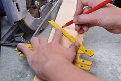Woodwork. In the workshop. carpenter working with wood royalty free stock photo