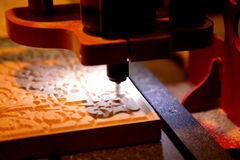Woodworker milling machine Royalty Free Stock Image
