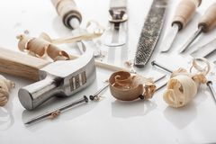 Woodworker tools Royalty Free Stock Images