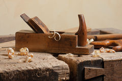 Woodworkers Plane royalty free stock images