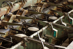 Woodworking automatic processing detail machine Royalty Free Stock Photos