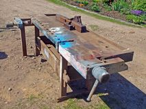 Woodworking bench Stock Image