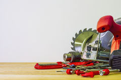 Woodworking bench tools Royalty Free Stock Photos