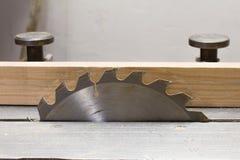 Woodworking  circular saw closeup Stock Photos