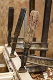 Woodworking clamps Royalty Free Stock Photo