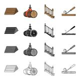 Woodworking, enterprise, ecology and other web icon in cartoon style.Board, tools, locksmith, icons in set collection. Royalty Free Stock Images