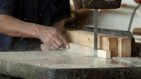 Woodworking factory worker Royalty Free Stock Images