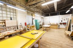 Woodworking factory workshop Royalty Free Stock Photography