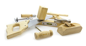 Woodworking hand tools Stock Images