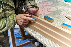 Woodworking joinery Royalty Free Stock Image