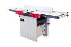 Woodworking jointer machine Stock Images