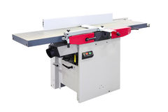 Woodworking jointer machine Stock Photo