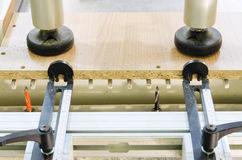 Woodworking machine. For drilling wood parts royalty free stock photos