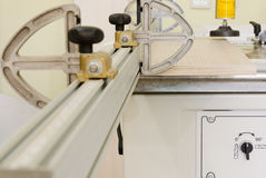 Woodworking Machine. Manufacture of furniture, the process Stock Photo
