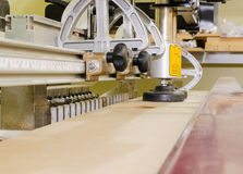 Woodworking Machine. Manufacture of furniture, the process Stock Photos