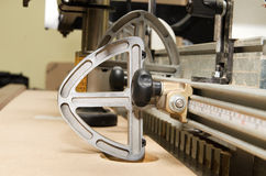 Woodworking Machine. Manufacture of furniture, the process stock photography