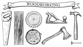 Free Woodworking Objects Set Stock Photos - 111979743
