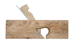 Woodworking Plane. Isolated over white Royalty Free Stock Photos