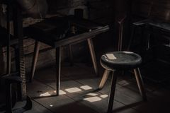 Woodworking shop royalty free stock photos