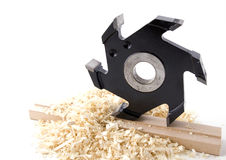 Woodworking tool. Big milling cutter Stock Photography