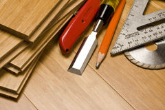 Woodworking and tools Royalty Free Stock Photos