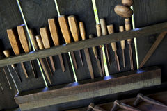 Woodworking tools Royalty Free Stock Photography