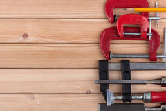 Woodworking tools. Royalty Free Stock Photography