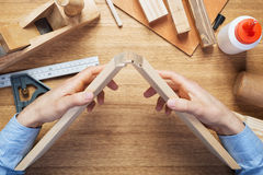 Woodworking workshop table top Royalty Free Stock Photography