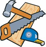 WoodworkingTools Royalty Free Stock Images