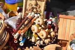 Woodworks of handwork always make happy Stock Photography