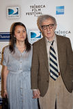 Woody Allen (R) and Soon-Yi Previn Royalty Free Stock Photo