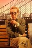 Woody Allen Wax Figure Foto de archivo libre de regalías