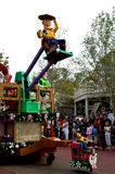 Woody and Buzz. Toy Story characters Woody and Buzz Lightyear ride in the Walt Disney World Holiday parade Stock Image