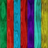 Woody fence seamless pattern texture background green, red, blue, purple and yellow stained wood Royalty Free Stock Images