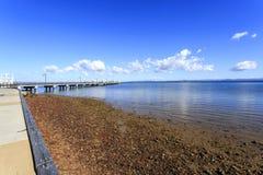 Woody Point Bay e molhe Foto de Stock Royalty Free