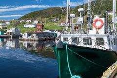 Woody Point Fishing Village in Newfoundland. Harbor of Woody Point Fishing Village in Gros Morne, Newfoundland, Canada stock images
