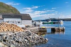 Woody Point Fishing Village in Newfoundland. Harbor of Woody Point Fishing Village in Gros Morne, Newfoundland, Canada royalty free stock photos