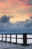Woody Point Jetty au coucher du soleil Photographie stock