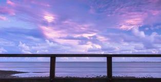Woody Point Jetty au coucher du soleil Image libre de droits