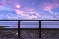 Woody Point Jetty bij zonsondergang Royalty-vrije Stock Afbeelding