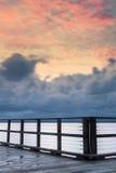 Woody Point Jetty en la puesta del sol Fotografía de archivo