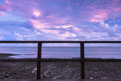 Woody Point Jetty en la puesta del sol Imagen de archivo libre de regalías