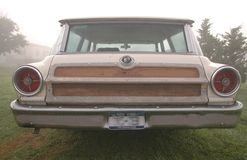 Woody wagon 2. A woody style station wagon in the early morning mist Stock Image