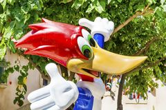 Woody Woodpecker Character .Wooden Toy stock images