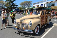 A 1941 Plymouth Special Deluxe `Woody` Wagon stock photo