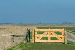 Wooen fence in landscape Stock Images