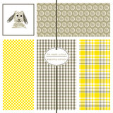 Seamless Background Patterns - Woof 1 Stock Images