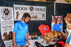 Woof dogs show stand Royalty Free Stock Photos