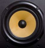 Woofer. Of loudspeaker made of kevlar stock photo