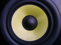 Woofer amarelo Fotos de Stock Royalty Free